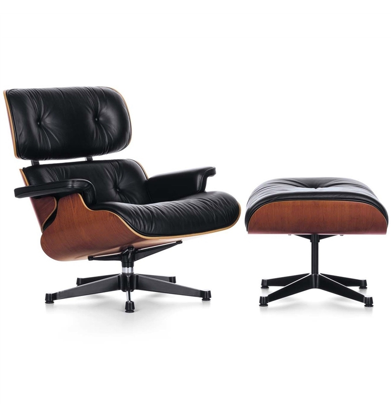 vitra lounge chair and ottoman by charles ray eames. Black Bedroom Furniture Sets. Home Design Ideas