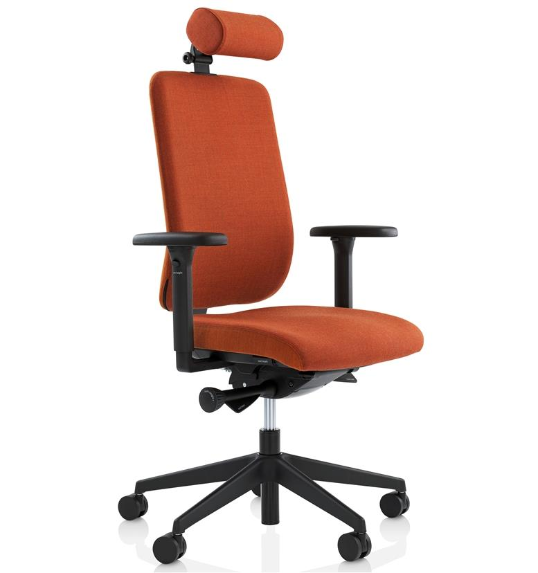 orangebox being me occupational health chair with headrest