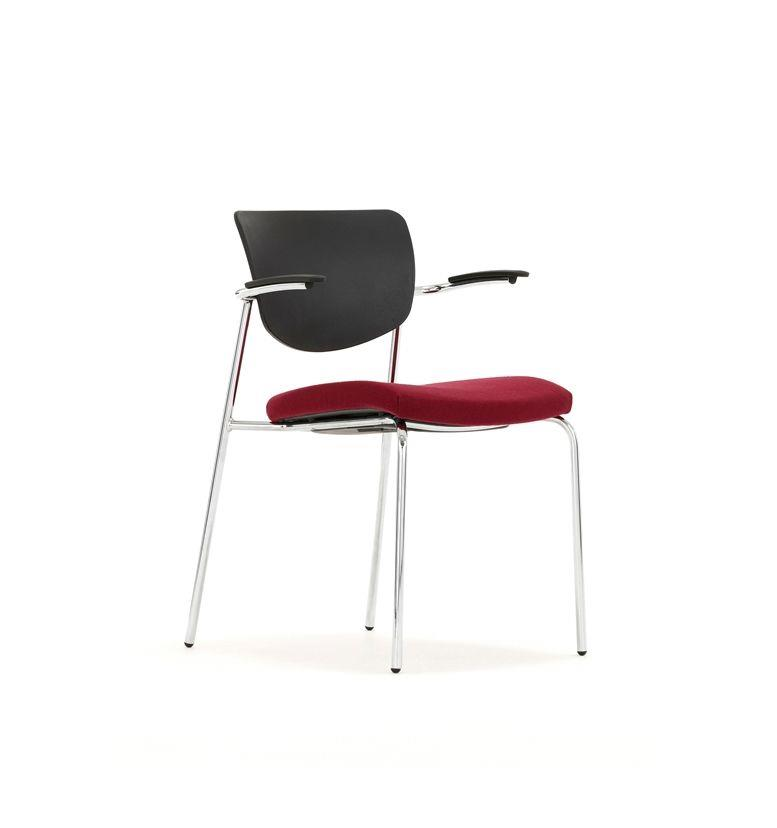 torasen contour upholstered seat multi purpose stacking chair