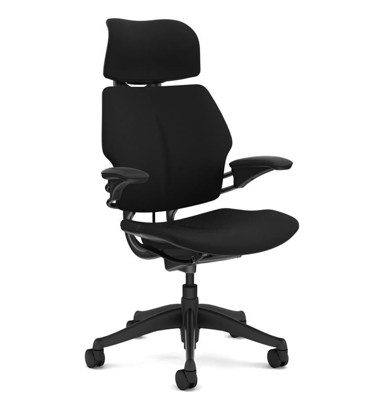 Humanscale Freedom Headrest Task Chair - Graphite - Side