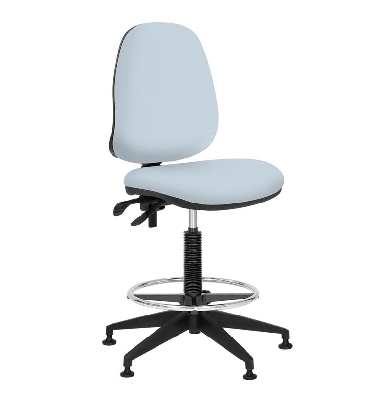 elite team plus upholstered draughtsman chair office chairs uk