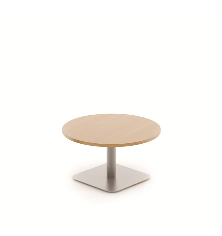 Komac Reef Round Top Square Bottom 600mm Diameter Beech Coffee Table