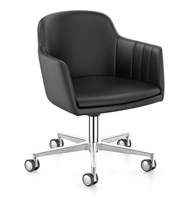Interstuhl Lemon club chair on castors