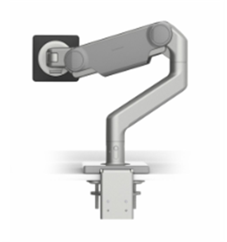 humanscale m10.1 monitor arm in silver