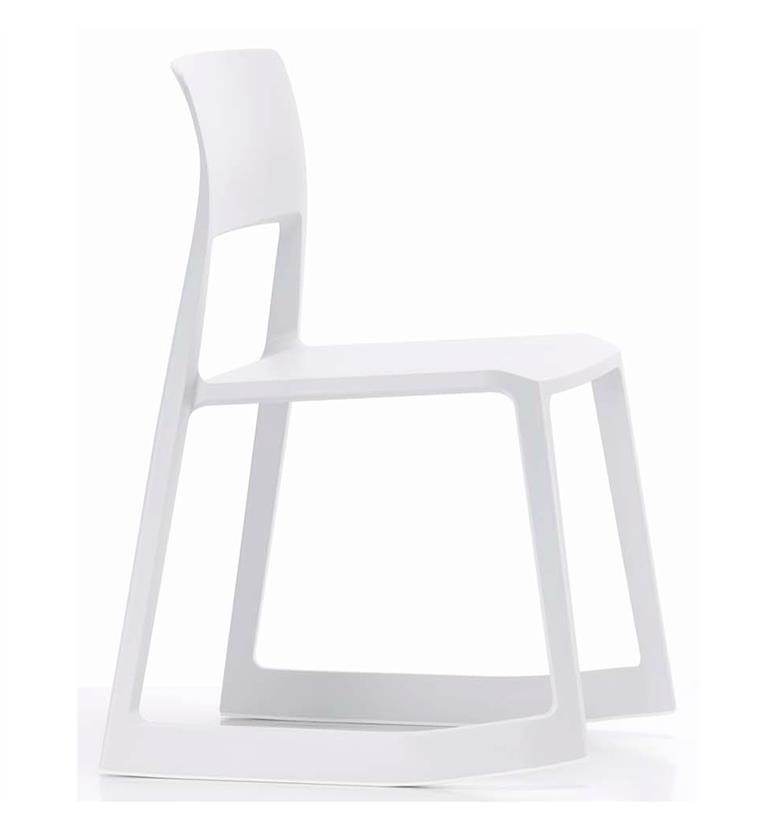 vitra tip ton solid plastic tipping chair white office. Black Bedroom Furniture Sets. Home Design Ideas