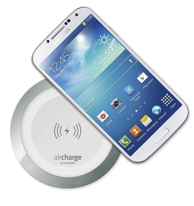 aircharge surface charger white aluminium