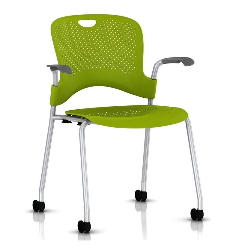Herman Miller Caper Stacker Chair Green