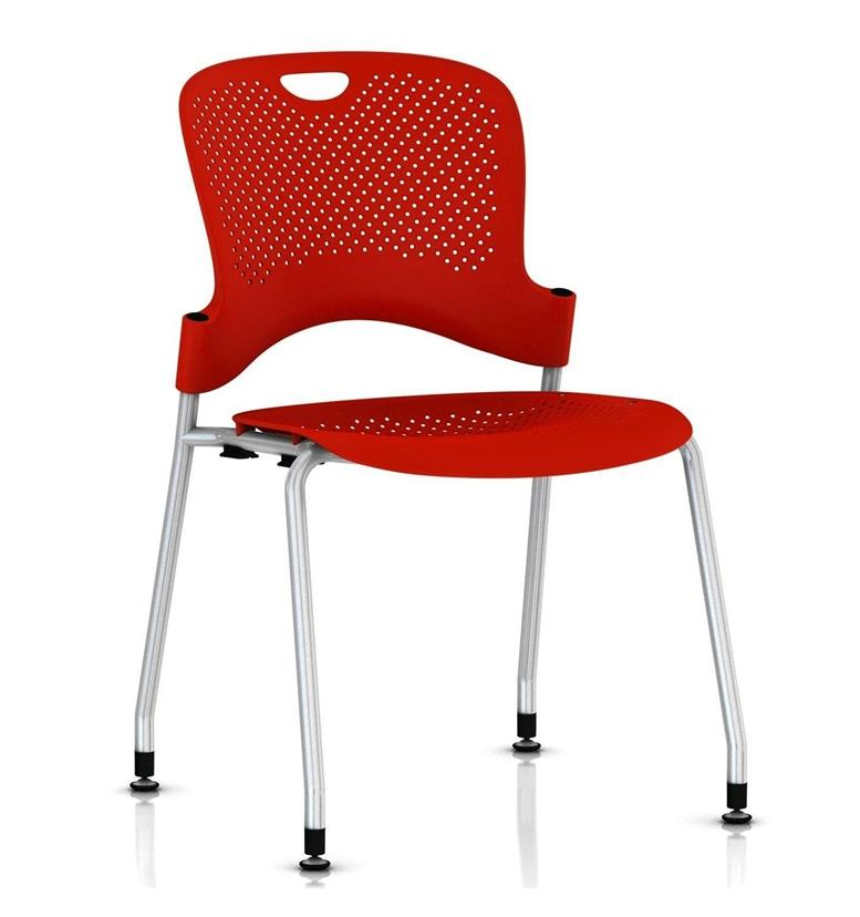 Herman Miller Caper Stacker Chair Red without arms
