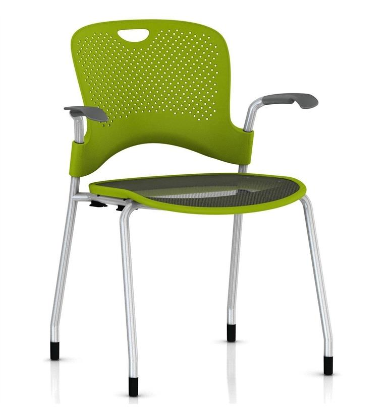 Herman Miller Caper Stacker Chair with Flexnet Seat Silver