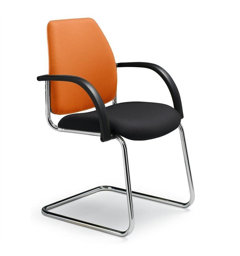 Dauphin Shape Visitor Cantilever Chair