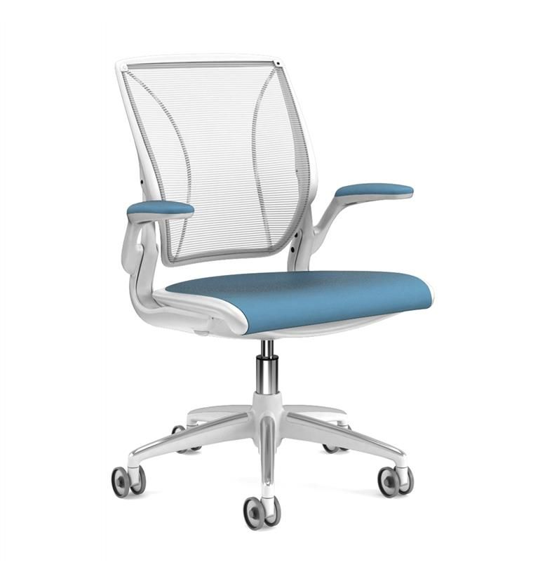 Humanscale Diffrient World Blue and White Front
