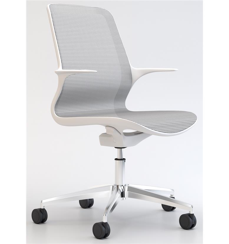 Elite Tempo White Mesh Office Swivel Chair Office Chairs Uk