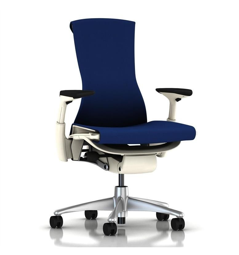 Herman Miller Embody White Berry Blue Rhythm Front