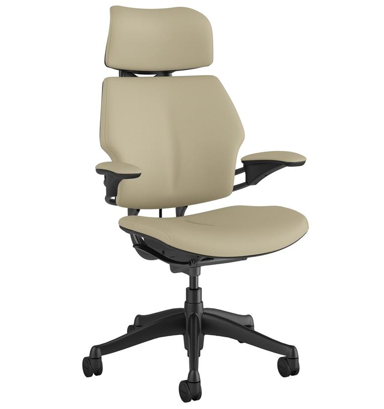 humanscale office chair corvara leather mineral