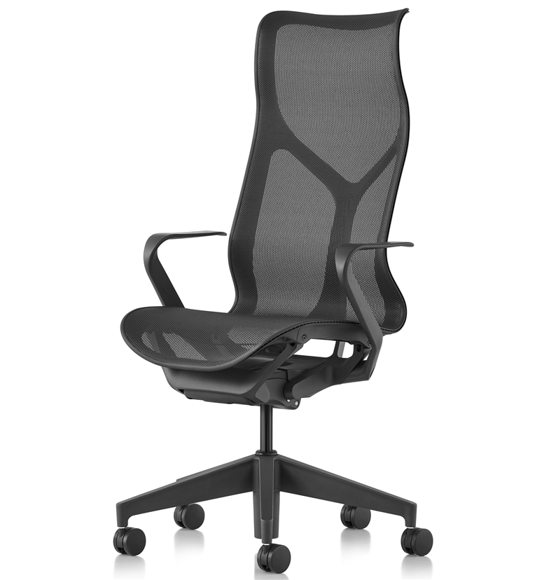 Herman Miller Cosm High back graphite, fixed arms