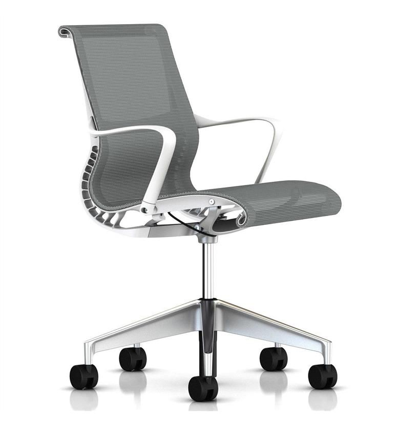 Herman Miller Setu Silver Semi Polished Base