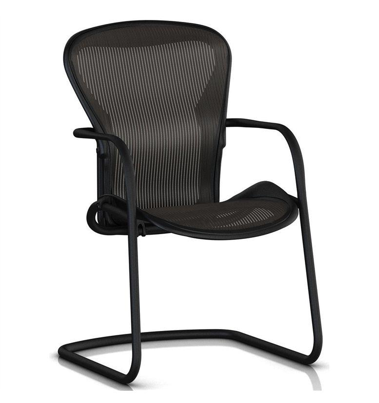 herman miller aeron side chair graphite office chairs uk