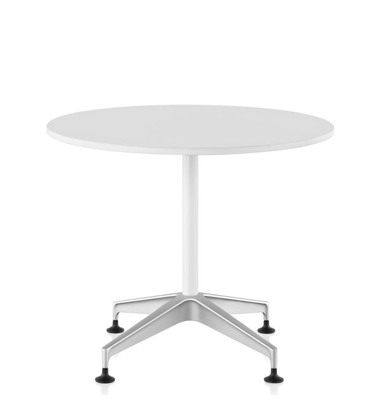 Herman Miller Setu Round Meeting Table Chalk White