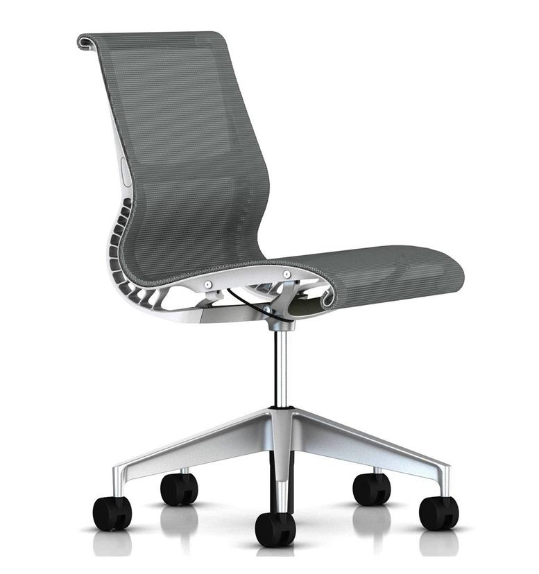 herman miller setu chair no arms alpine white office chairs uk