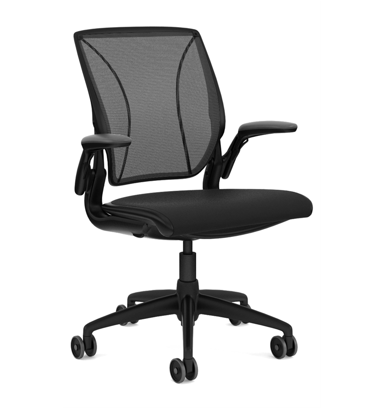 Humanscale Diffrient World Chair Black Fabric Seat