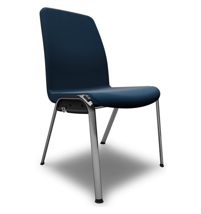 Komac Ice Fully Upholstered 4 Leg Chair (non-arm)