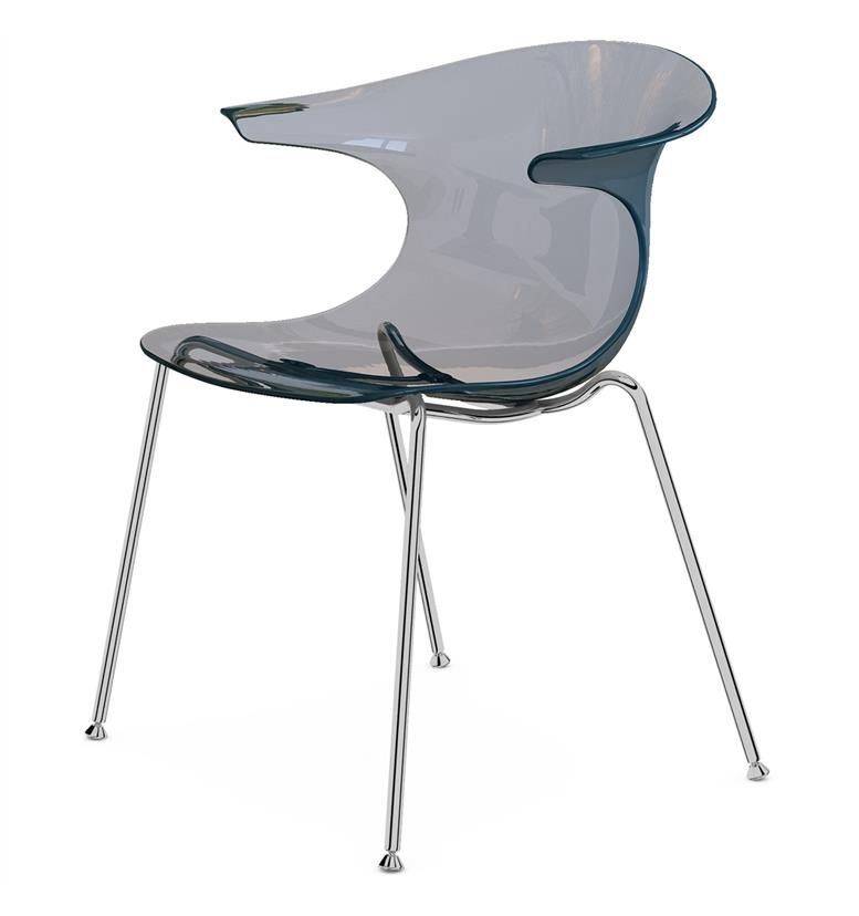 Komac Loop 4 Leg Chair (Transparent Finish)