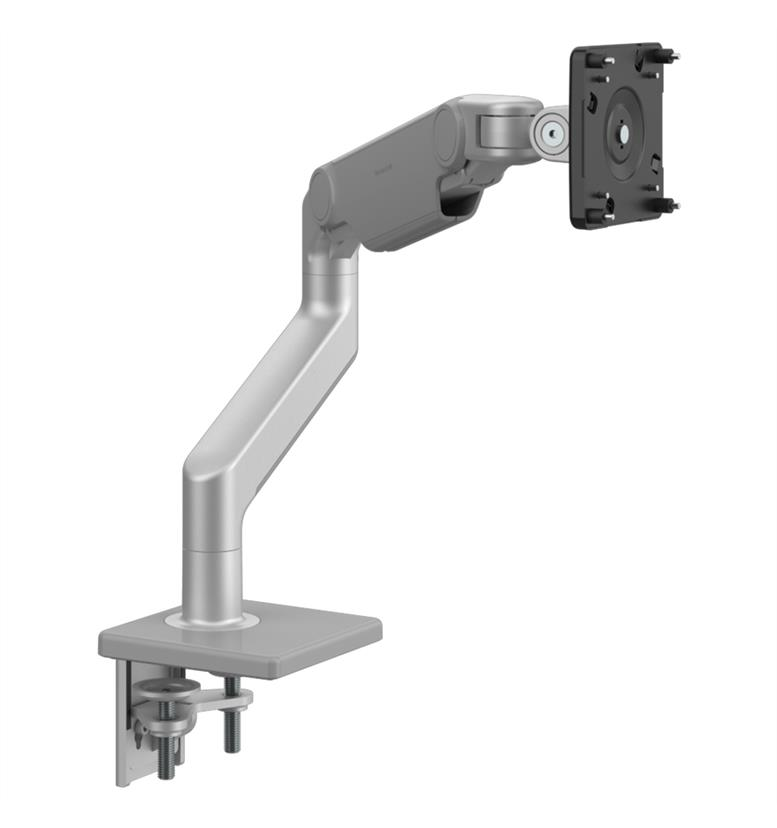 Humanscale M8.1 monitor arm silver with grey trim front