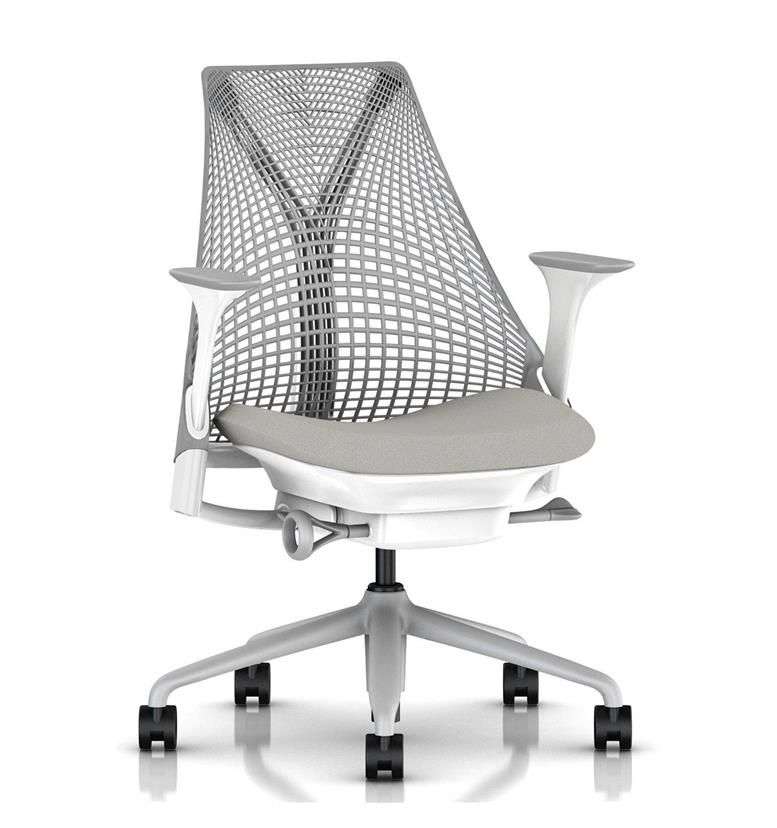 Herman Miller Sayl Office Chair, Aristotle, Fog Base