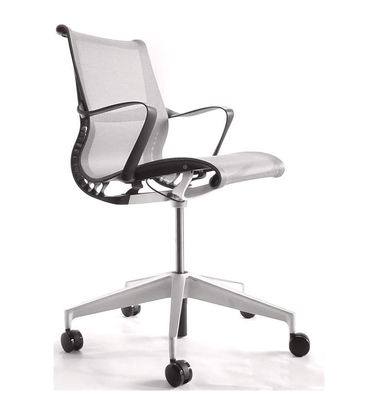 Herman Miller Setu Silver Chair