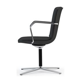 Orangebox Calder-MBS Mid Back Meeting Chair on Flat 4 Star Base Side