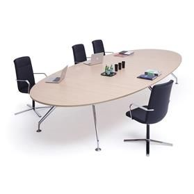 Orangebox Lano Oval Meeting Table Maple