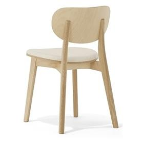 Allermuir Jaicer Beech Side Chair Upholstered Seat