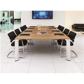 Boss Design Apollo Rectangular Table 4 Leg, Veneer Finish