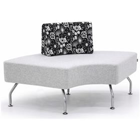 Verco Brix Curved Bench with Back