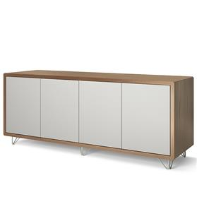 Boss Design Credenza 740mm High with doors, Wire Feet