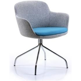 Verco Danny Swivel Tub Chair Blue