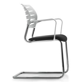 Dauphin X-Code Cantilever Visitors Chair - White