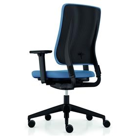 Viasit Drumback Swivel Chair Black Backshell