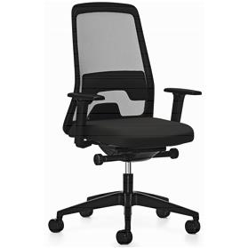 PRE ORDER! Interstuhl Everyis1 142E Synchronous Mesh Office Chair, Jet Black Edition