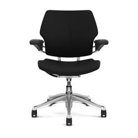 Humanscale Freedom Task Chair Black Edition, Polished Base