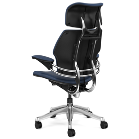 Humanscale Freedom Leather Chair Twilight Blue