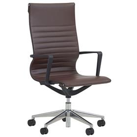 verco flux high back chair brown
