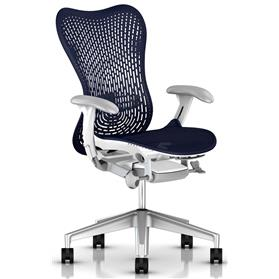 NEXT DAY DELIVERY! Herman Miller Mirra 2, Triflex ll Back, White Frame, Twilight