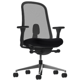 Herman Miller Lino Office Chair Black Edition, Polished Base