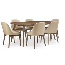 Lyndon Design isla dining table Walnut with chairs