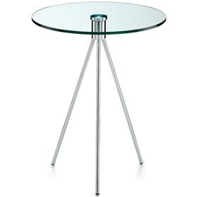 Komac Vox Round Clear Glass Table