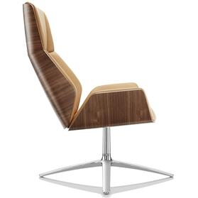 Boss Design Kruze High Back leather lounge chair side