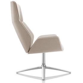 Boss Design Kruze High Back Fabric lounge chair Side