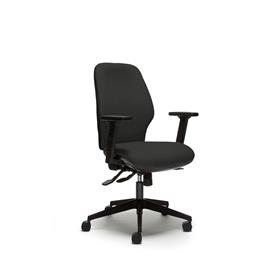 Torasen Orthopaedica 200Series Mid Back, Black Fabric
