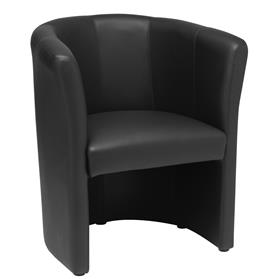 Elite Nero Leather One Seater Tub Chair